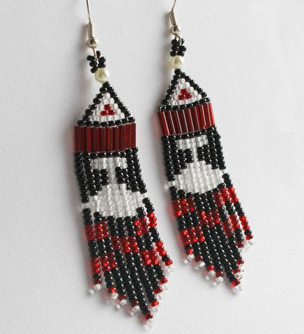 Ulu Earrings by Mary Jane Nigiyok from Ulukhaktok (Holman), NT. $52.