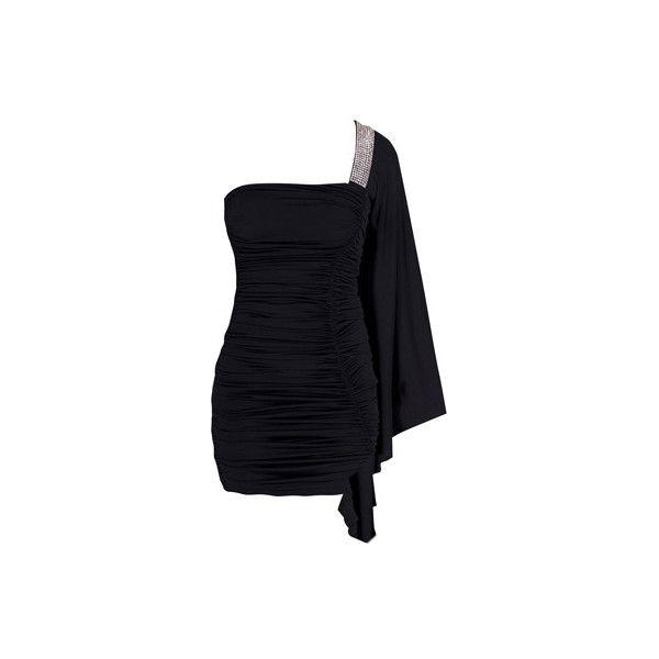 DRESSES - CARMEN - BLACK - Forever Unique ($105) ❤ liked on Polyvore featuring dresses, short dresses, vestidos, cocktail dresses, asos dresses, asos, asos cocktail dresses and mini dress