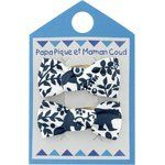 Barrettes clic-clac petits noeuds scandinave marine - PPMC