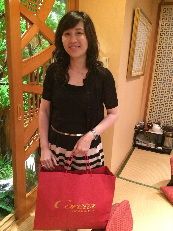 Mrs. Veronika Ahok with Coreta Bag