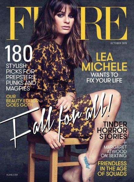 Lea Michele by Nino Muñoz for Flare Magazine October 2015 cover