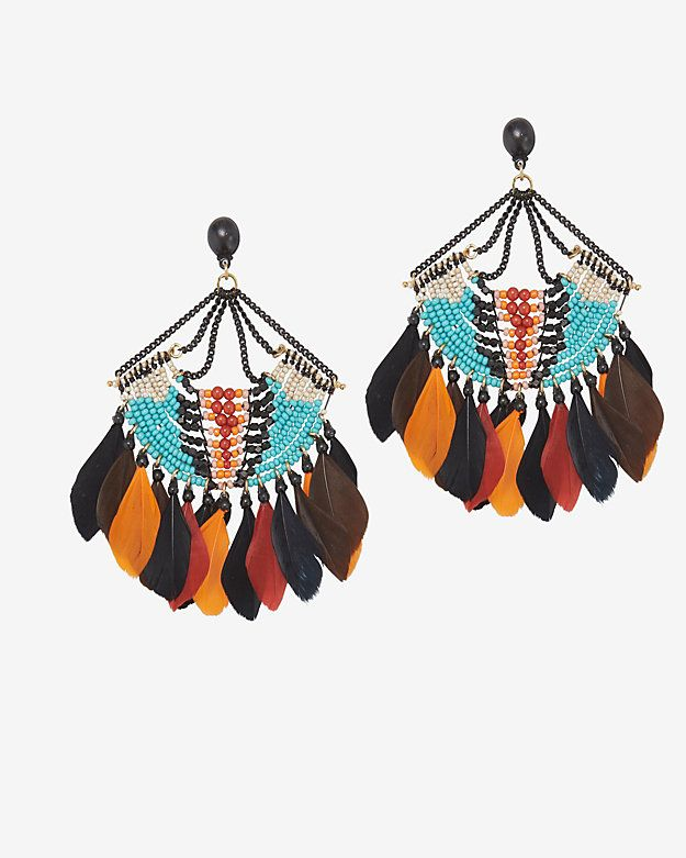 GAS Bijoux Feather Fringe Earrings