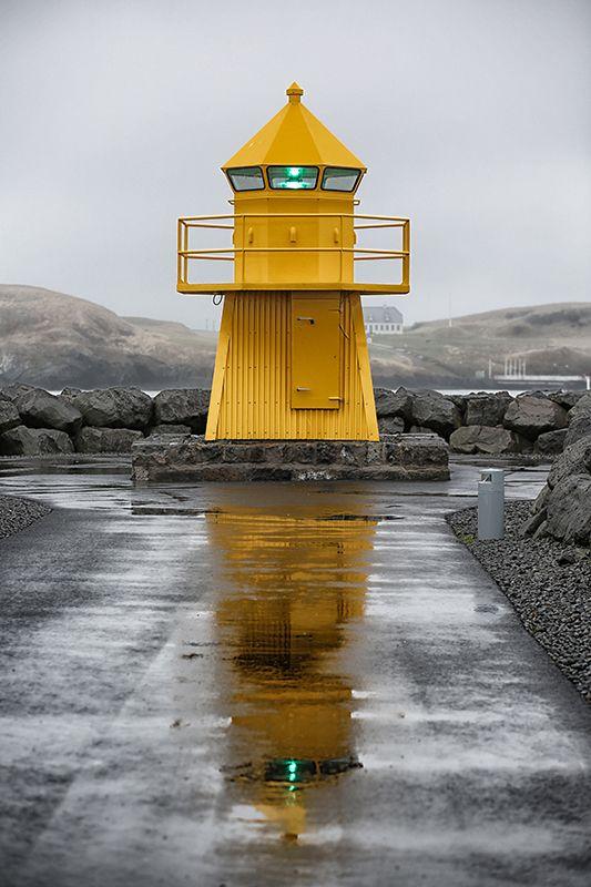 Skarfagarðs Lighthouse, Reykjavik, Iceland