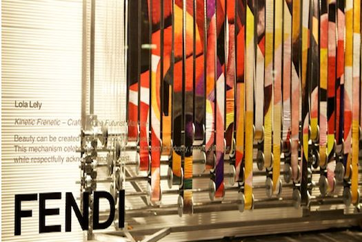 FENDI: Royal College of Art: Design students from London's Royal College of Art have created a series of punk-inspired installations for Italian luxury house Fendi's new Peter Marino-designed Sloane Street boutique.