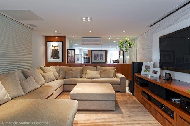 Decor Salteado - Blog de Decoração e Arquitetura : Sofá de canto volta à cena na decoração!