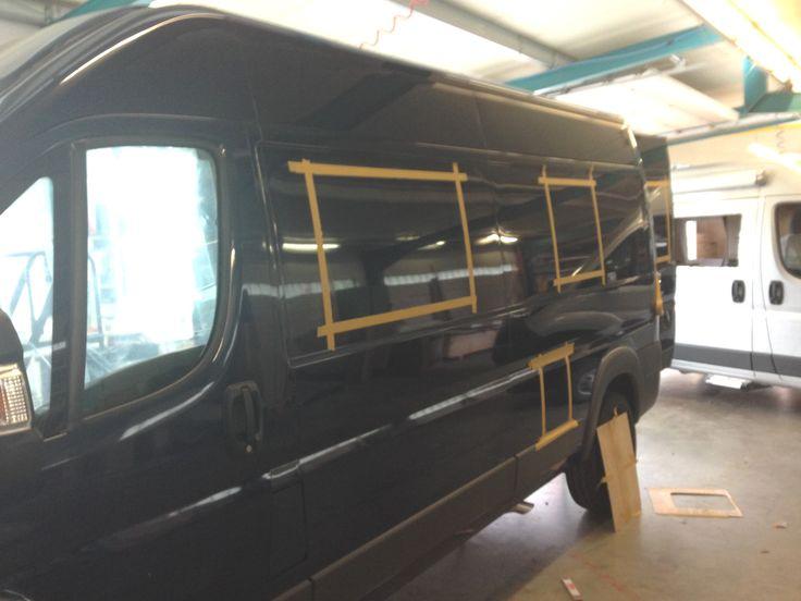Kastenwagen Karosserie Markierung Fenster