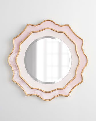Rosemeade Mirror at Horchow - for baby girl's room.  Her nursery will be filled with SUPER cutesy furniture!!