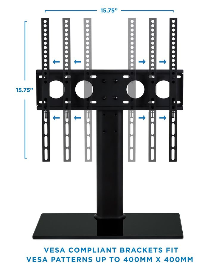 MountIt! Universal Tabletop Television Stand Mount and AV Media Glass Shelf Television Mount Bracket Fits 32 37 40 47 50 55 Inch Televisions Height Adjustable VESA 400x400 Black -- Read more reviews of the product by visiting the link on the image. (This is an affiliate link) #AshleyFurnitureLivingRoom