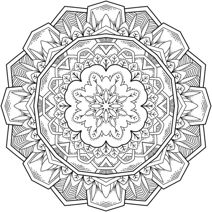 Picture of Starlight Bloom coloring page