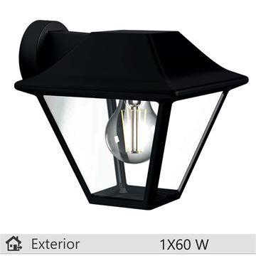 Aplica exterior Philips Alpenglow negru 1x60W http://www.etbm.ro/iluminat-decorativ-exterior