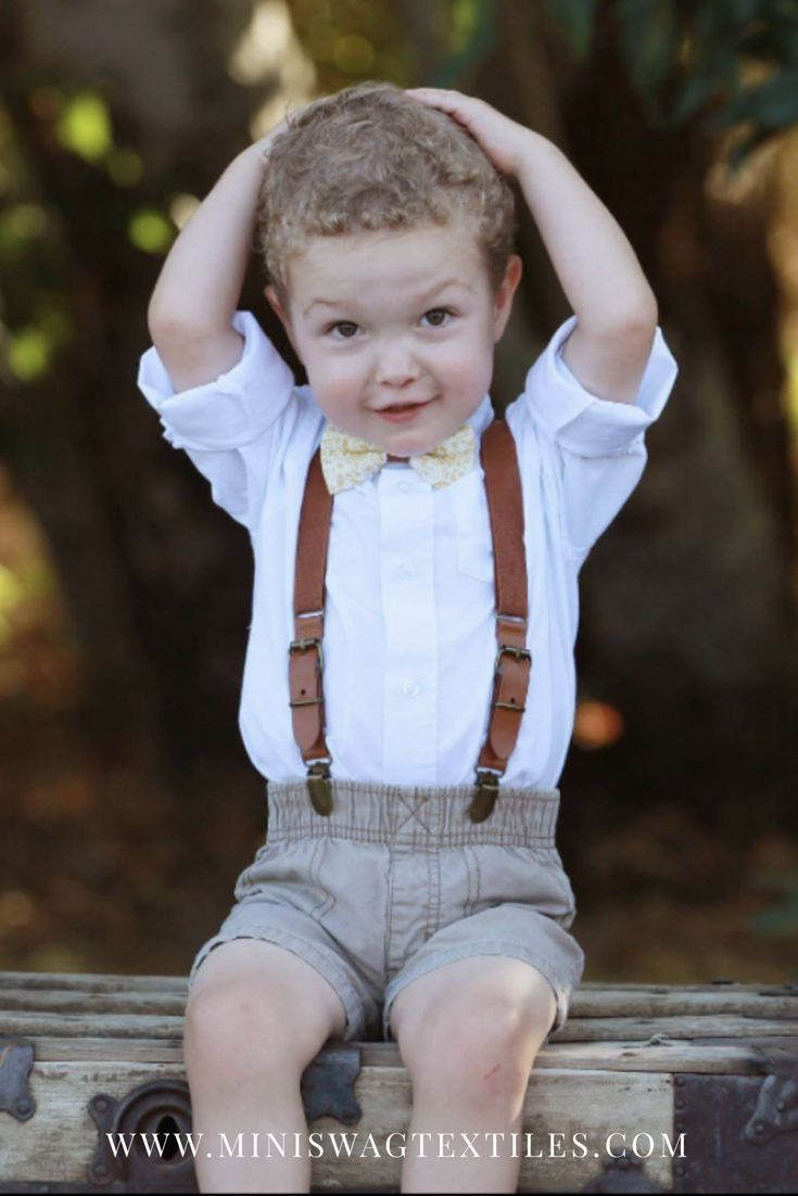 Boys Bow Tie, Leather Suspenders, Fall Bow Tie, Autumn Wedding Outfit, toddler suspenders outfit, baby boy fall outfit, Thanksgiving Outfit, Page Boy, Ring Bearer Outfit, Cake Smash Outfit, vintage photo shoot, vintage photography, little boy fashion, baby bow tie, wedding suspenders, baby suspenders, fall photo shoot, fall picture outfits, dapper, boys accessories