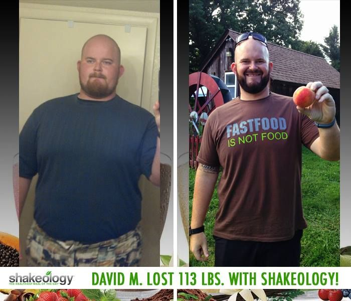 "Shakeology review: David M. lost 113 lbs. with the help of Shakeology! He says: ""Shakeology is the first product I have ever tried that truly delivered on everything it claims. Nothing has had a bigger impact on my life than Beachbody and Shakeology."" David M. lost 113 lbs. with the help of Shakeology! http://www.onesteptoweightloss.com/shakeology-ingredients-superfoods #ShakeologyResults"