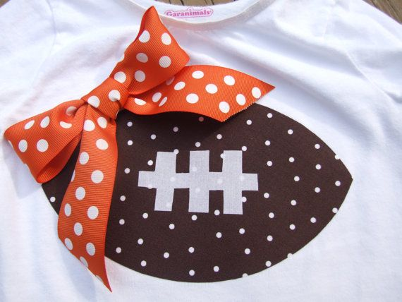 Love this!! Who says girls can't be football fans?: Ideas, Girly Football, Craft, Football Shirts, Baby Girl, Football Season, Wear Footballs, Kid