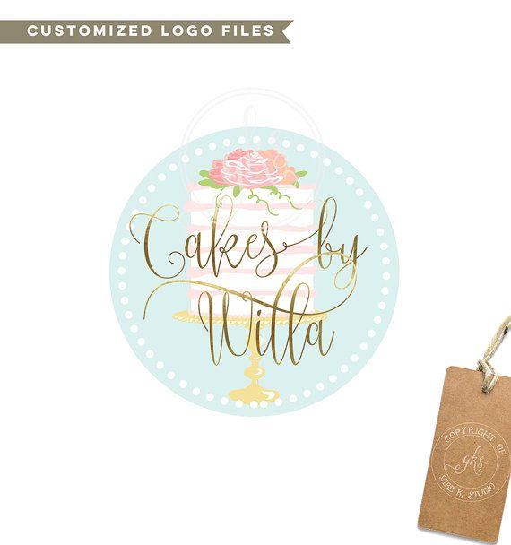 Betaalbare bakkerij Custom Logo  Branding  van GibbCoStudio op Etsy