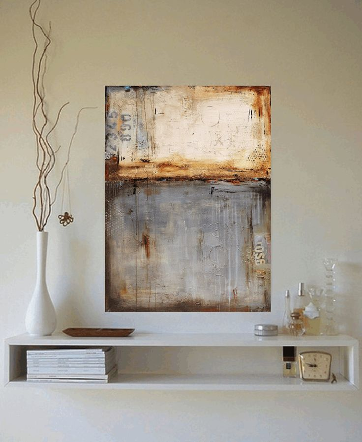 40 PAINTING mixed media abstract painting oil par jolinaanthony