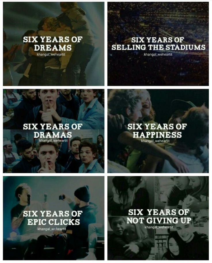 Six years of One Direction!