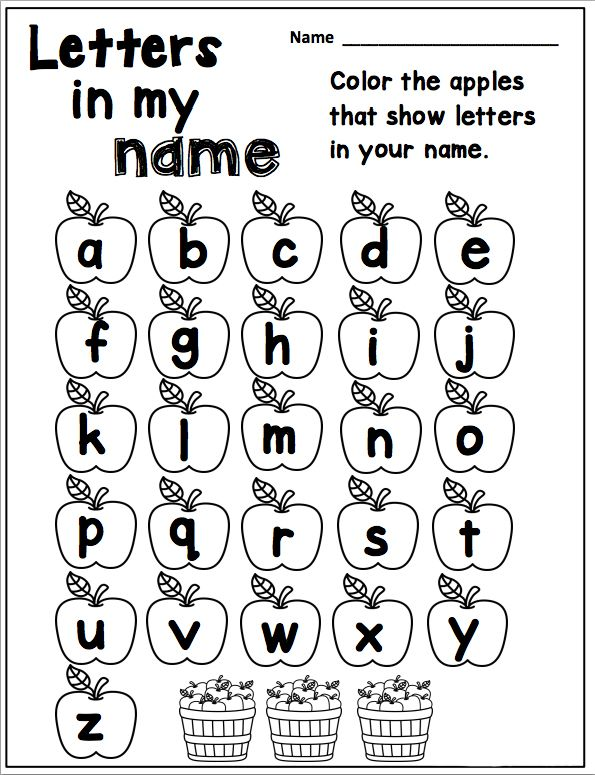 Letter recognition activities that get children remembering the letters that make up their own name is a great way to get your pre-school kids on the road to reading. Worksheet created by The Kindergarten Connection