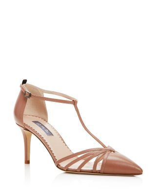 SJP by Sarah Jessica Parker Carrie T Strap Pointed Toe Pumps | Bloomingdale's