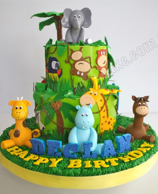 Celebrate With Cake!: Animal Safari Jungle Cake