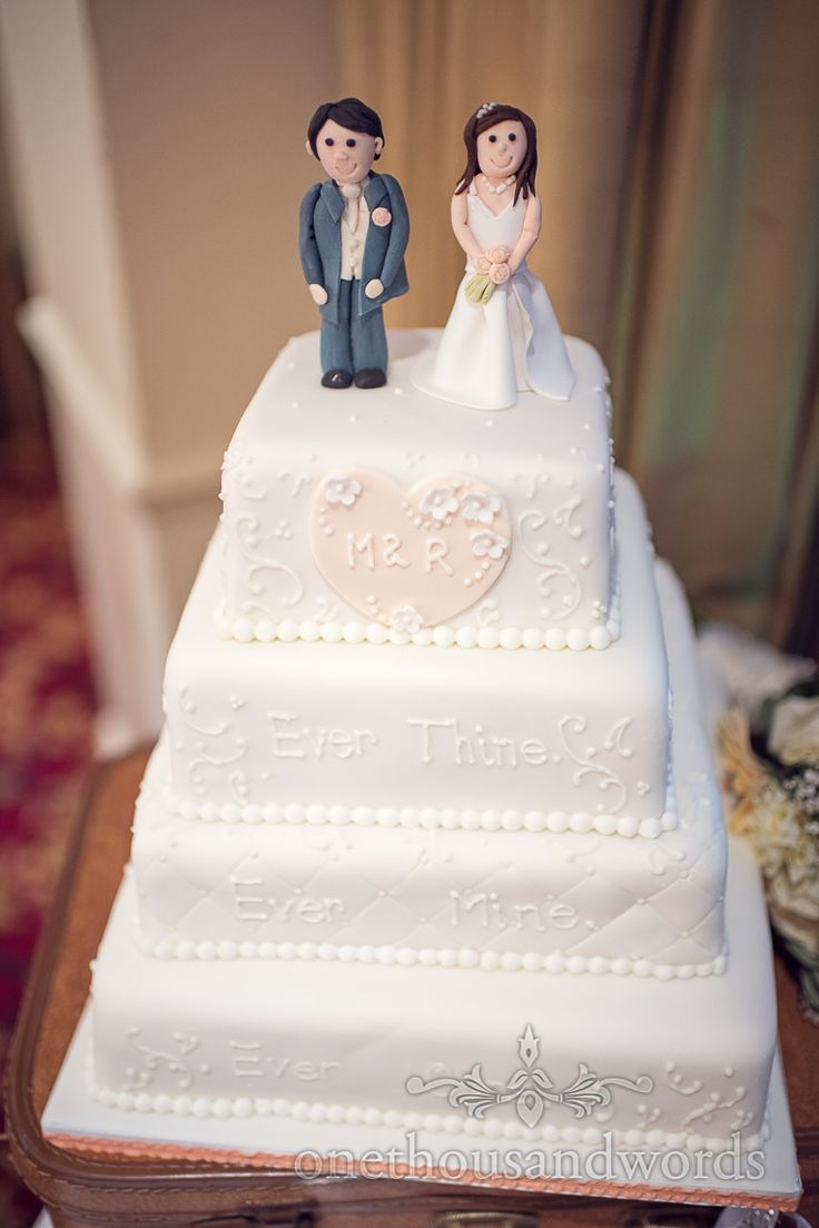 Bride And Groom Cake Toppers At Bournemouth Hotel Wedding Photography By One Thousand Words