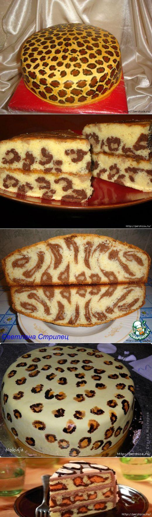 Леопардовый кекс - вот так идейка... | Выпечка | Постила