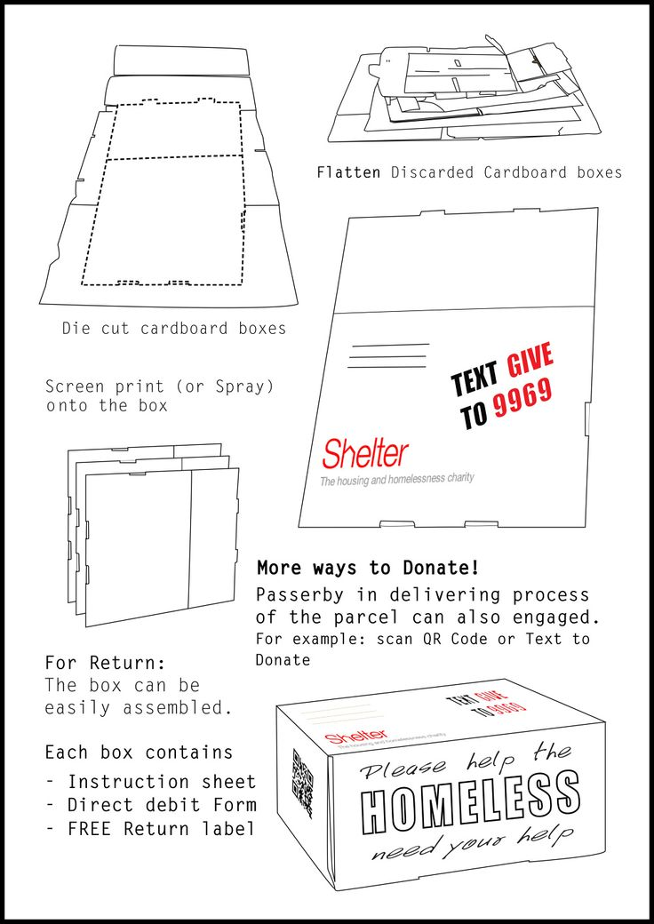 Flat Pack Charity Collection Boxes Aqa Product Design