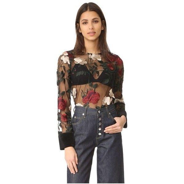 sheer see through blouse | eBay