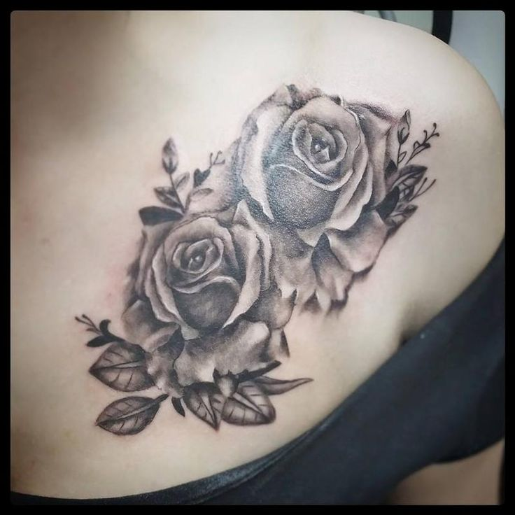 Off the Map Tattoo : Tattoos : Feminine : black and grey roses