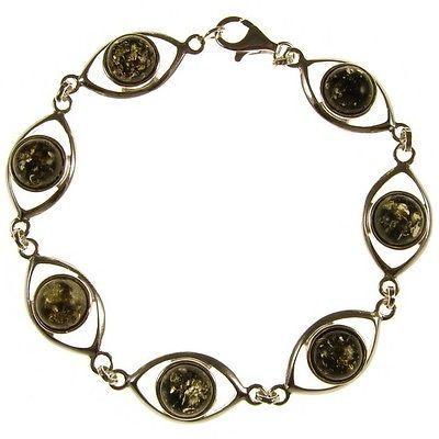 20cm Bracelet Femme Ambre Argent 925 Bijoux in Bracelets | eBay