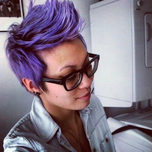 Purple pixie pompadour :3