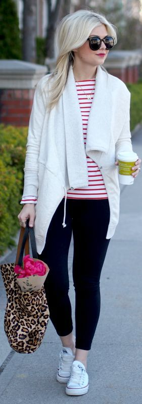 Cool Winter Outfits With Leggings Joe Fresh red And White Stripe Crew Neck Tshirt Check more at http://24shopping.ga/fashion/winter-outfits-with-leggings-joe-fresh-red-and-white-stripe-crew-neck-tshirt/