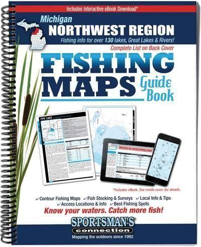 Michigan Northwest Region Fishing Maps Guide Book