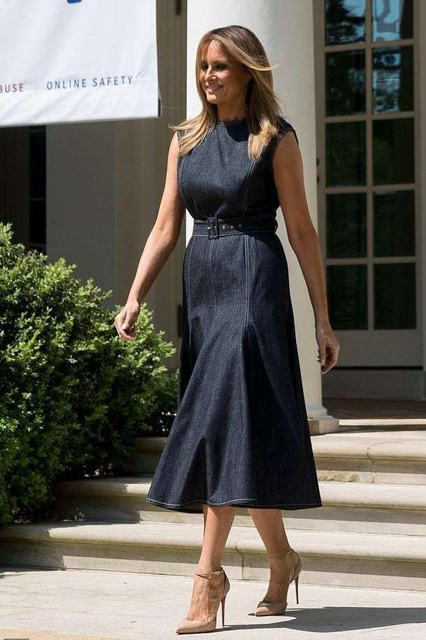 Dress 1195 At Net A Porter Wheretoget Trump Fashion Fashion Dresses Milania Trump Style