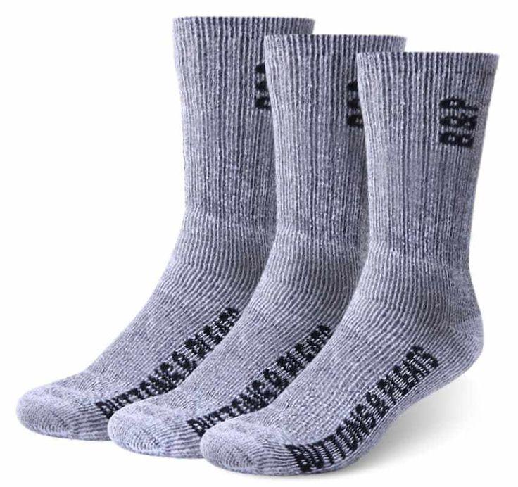 Merino Wool Hiking Socks Outdoor Trail Crew Socks 3 Pairs Charcoal Small-Medium | eBay