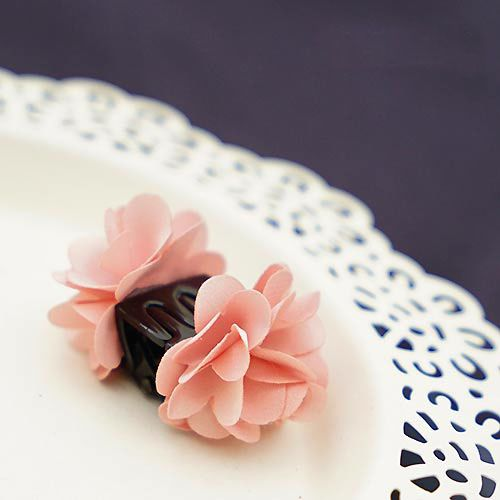 High Quality Lovely Korea Style Cotton Flower Tiny Hair Claw for Girls