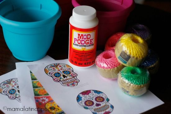 Day of the Dead Pots materials