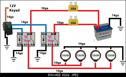 Off road light wiring diagram . Automotive Electronics