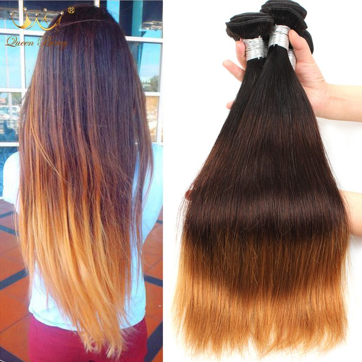 Cheap Omber Brazilian Virgin Hair Straight 8A Brazilian Straight Hair Human Hair Weave 3pc/lot Three Tone Color Ishow Ombre Hair