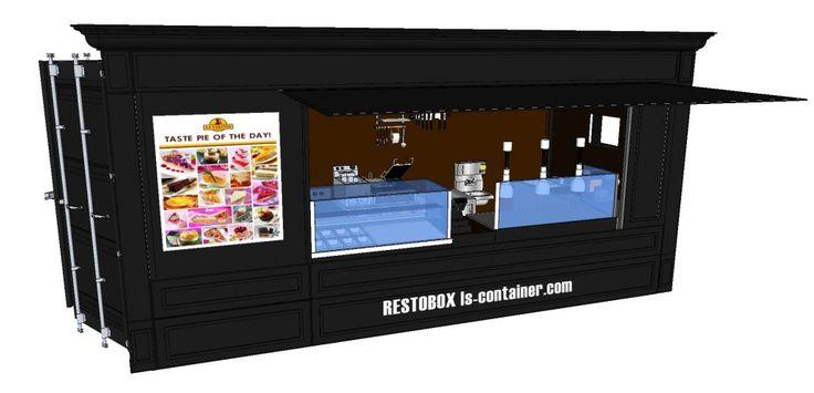 Voici notre dernière solution de snacking mobile : La RESTOBOX ! un container 20 pieds ( 6 m ) snacking prêt à l 'emploi.