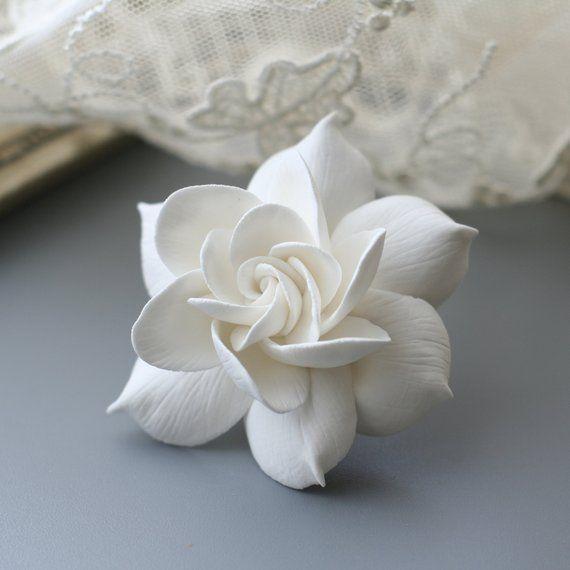Gardenia Hair Clip Wedding Flower Hair Clip Bridal Hair Etsy Bridal Hair Flower Clip Flower Hair Clips Wedding Flower Hair Clips