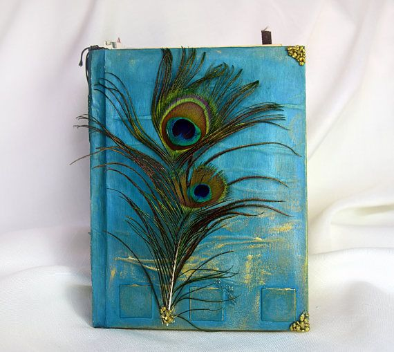 Peacock scrapbook birthday gift journalhandmade notebook