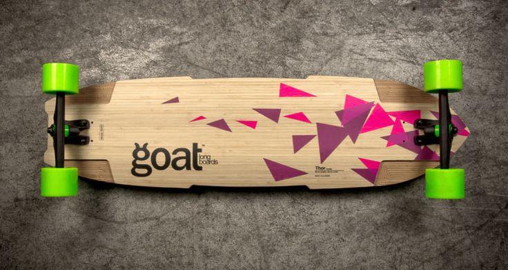 Goat Thor vista por abajo. Tabla de #freeride y #downhill. #longboard #dh #goatlongboards #bambu #thor