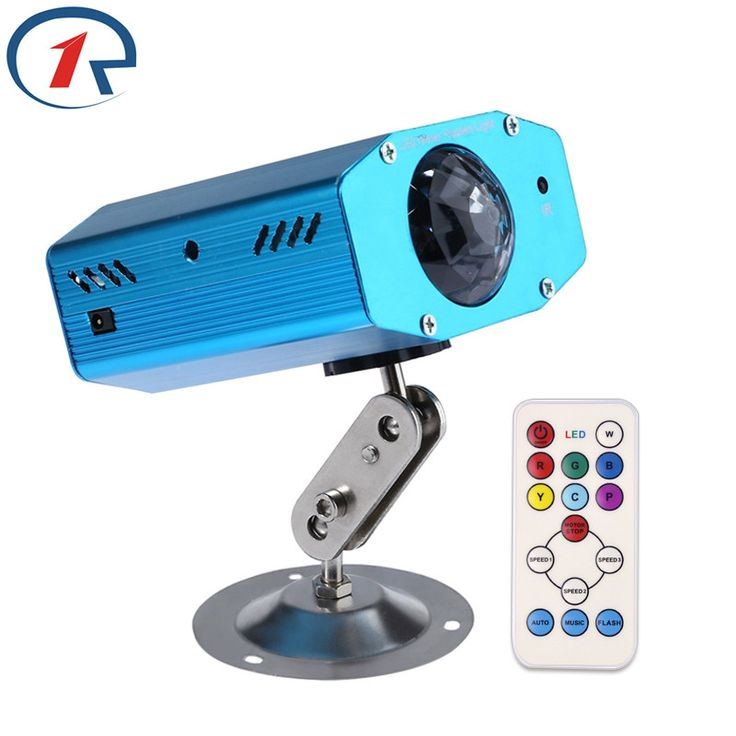 ZjRight 9W IR Remote Colorful strobe LED Stage Light Water Wave projection Effect lights Music control Party DJ disco lighting