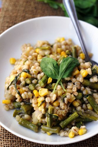 Barley risotto, Risotto and Asparagus on Pinterest