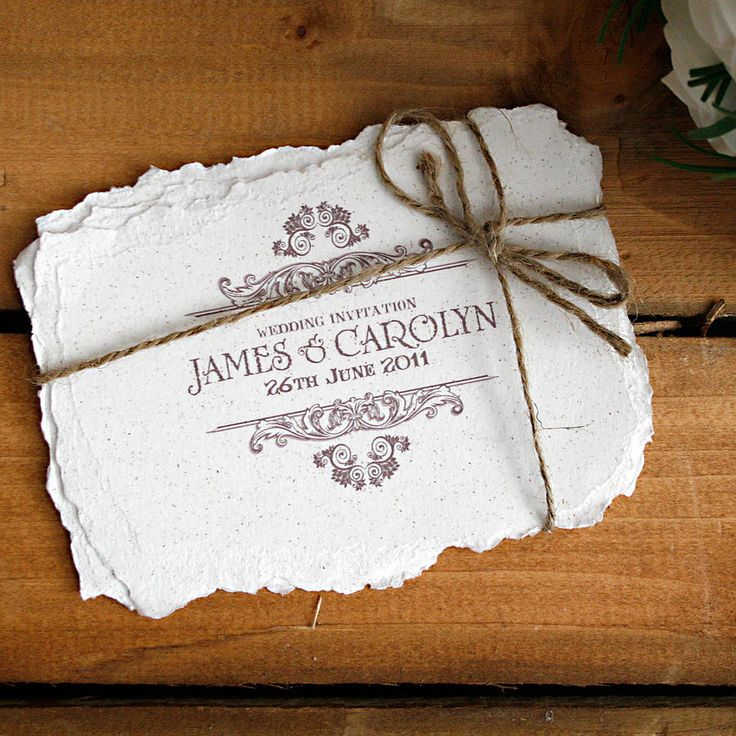 20 Creative And Unique Vintage Wedding Invitations