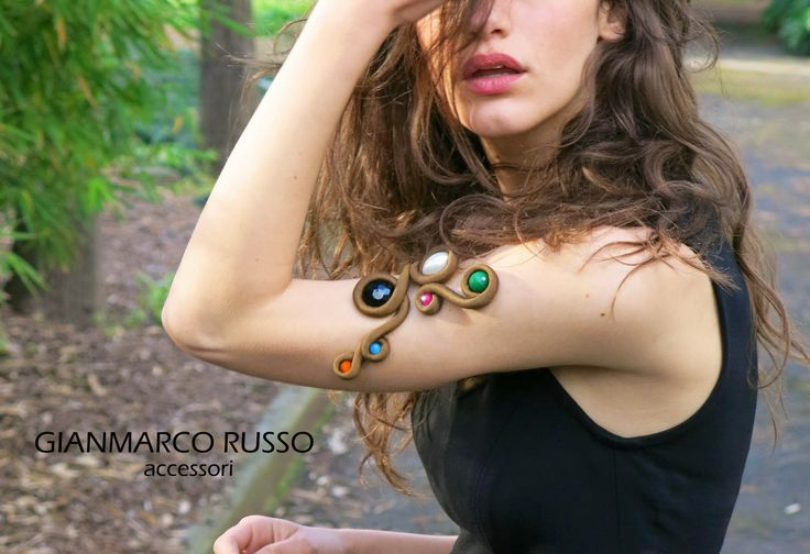 Bracciale in seta con pietre by GIANMARCO RUSSO Accessori