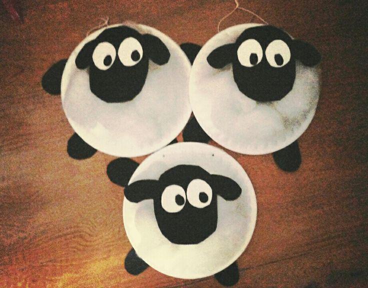 Shaun the sheep paper plate craft