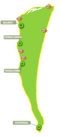 Moreton Island Town Map