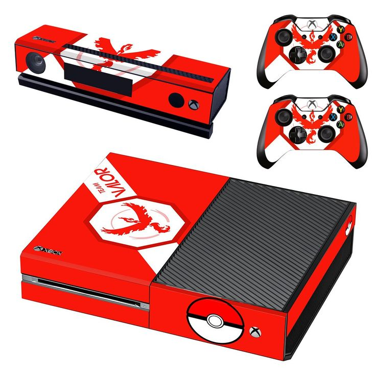 pokemon go team valor skin decal for xbox one console and controllers