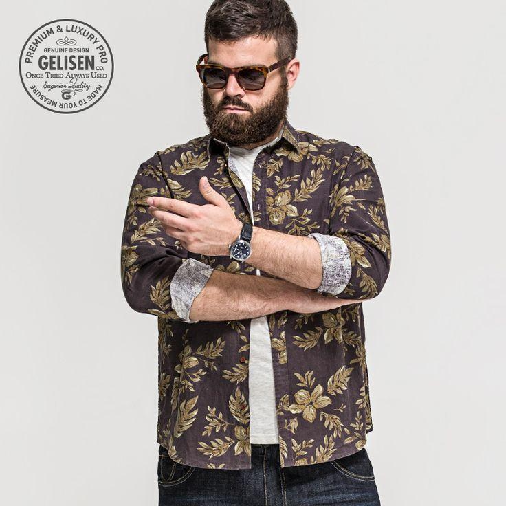 GELISEN 2015 Brand Fashion Men's Large Size shirt